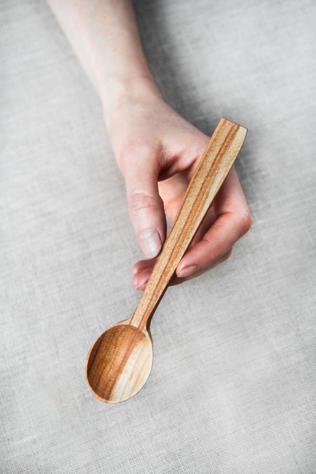 ложка для чая деревянная